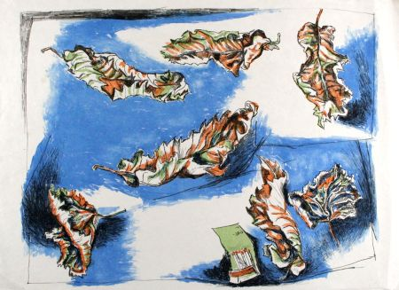 Lithographie Guttuso - Foglie (Leaves)