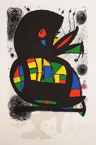 Lithographie Miró - Fondation Maeght