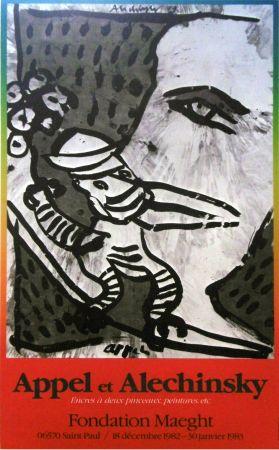 Affiche Alechinsky - '' Fondation MAEGHT '' - Avec Karel APPEL