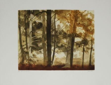 Eau-Forte Et Aquatinte Walker - Forêt d'automne / Autumn Forest