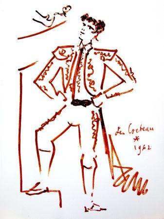 Lithographie Cocteau - Force