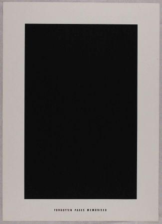Lithographie Agnetti - Forgotten pages memorised from 'Spazio perduto e spazio costruito' portfolio, Plate G