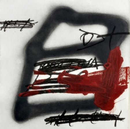 Gravure Tàpies - Forma ombrejada