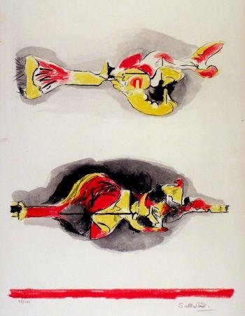 Lithographie Sutherland - Formes volantes et flottantes
