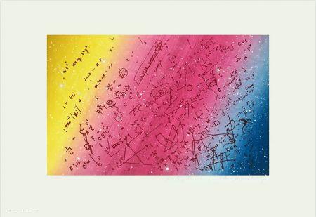 Sérigraphie Monory - FOUILLIS MATHÉMATIQUE. Sérigraphie de 1975 signée au crayon.