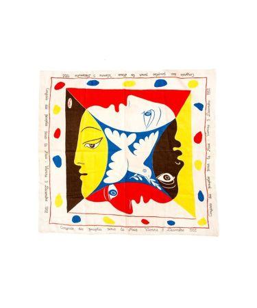 Sérigraphie Picasso - Foulard Pour Le Festival Mondial De La Jeunesse Et Des Etudiants Pour La Paix, 1951