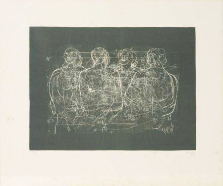 Lithographie Moore - Four Grey Ladies