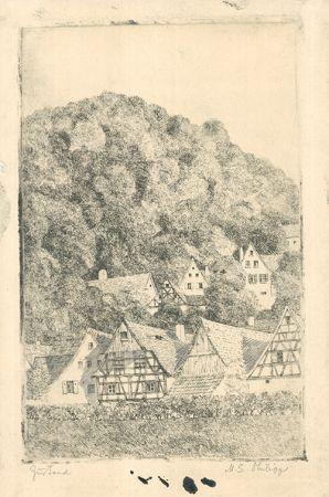Gravure Philipp - Fränk.  Dorf Eggloffstein
