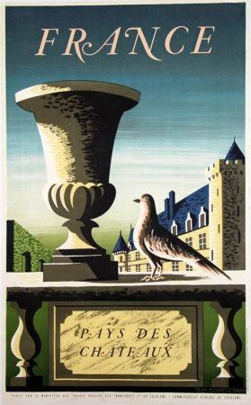Lithographie Picard Ledoux - France Pays de Chateaux