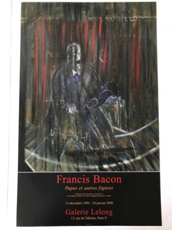 Affiche Bacon - Francis Bacon - Galerie Lelong Exhibition Poster - Screaming Pope