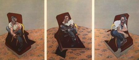 Lithographie Bacon - Francis Bacon - Portrait Of Lucien Freud 1966
