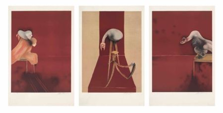 Lithographie Bacon - FRANCIS BACON, SECOND VERSION OF TRIPTYCH