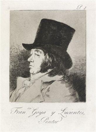 Eau-Forte Et Aquatinte Goya - Francisco Goya y Lucientes, Pintor.  / Self-Portrait of Goya