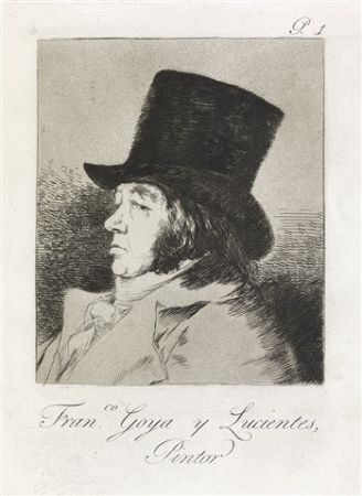 Eau-Forte Et Aquatinte Goya - Francisco Goya y Lucientes, Pintor.  / Self-Portrait of Goya