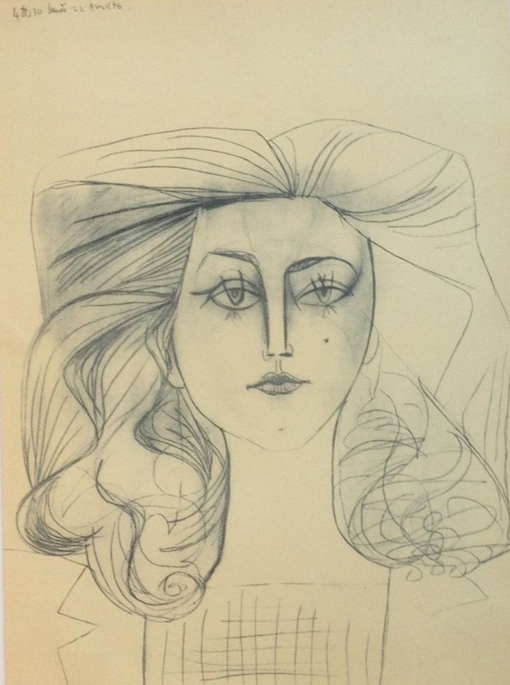 Lithographie Picasso - Francoise Gilot 1