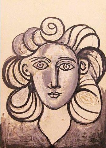 Lithographie Picasso - Francoise Gilot 2