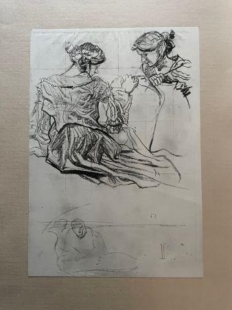 Lithographie Brangwyn   - Frank Brangwyn - Limited Edition Lithograph entitled 'Etude de femmes' 1927