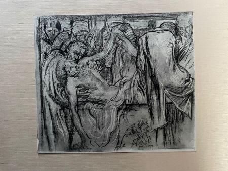 Lithographie Brangwyn   - Frank Brangwyn - Limited Edition Lithograph entitled 'La Mise au tombeau'