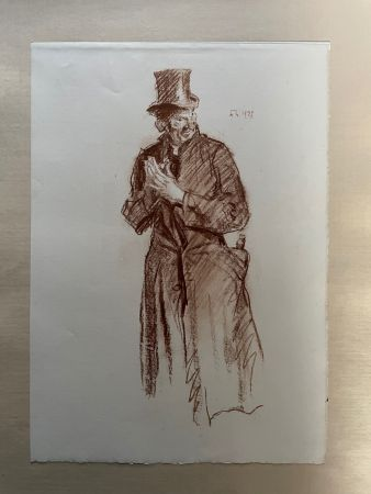 Lithographie Brangwyn   - Frank Brangwyn - Limited Edition Lithograph entitled 'Le Sacristian' 1927