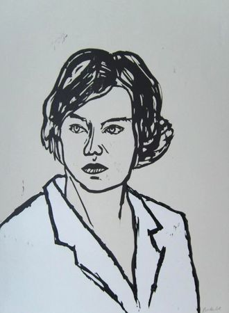 Gravure Sur Bois Balkenhol - Frau