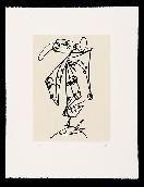Eau-Forte Et Aquatinte Saura - Frauen portrait mit Hut 1