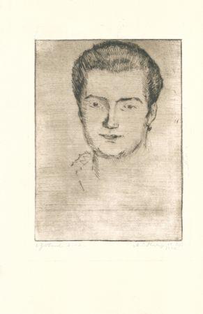 Gravure Philipp - Frauenbildnis