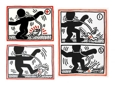 Sérigraphie Haring - Free South Africa Series, set of 3