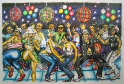 Lithographie Motswai - Freedom dance party