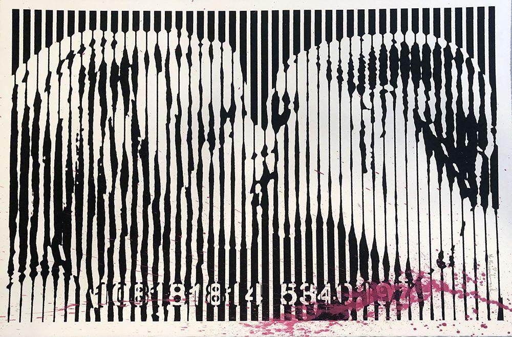 Sérigraphie Mr Brainwash - Freedom Kiss (Pink Splash)