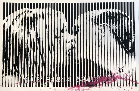 Sérigraphie Mr Brainwash - Freedom Kiss (Pink Splash)