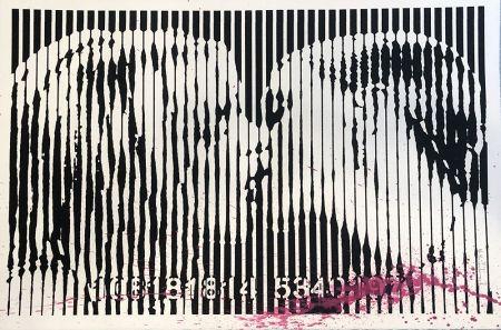 Sérigraphie Mr. Brainwash - Freedom Kiss (Pink Splash)