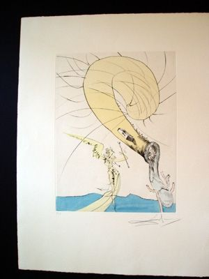 Gravure Dali - Freud With A Snail's Head