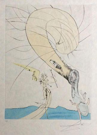 Gravure Dali - Freud with Snail Head