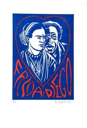 Lithographie Di Rosa - Frida Y Diego