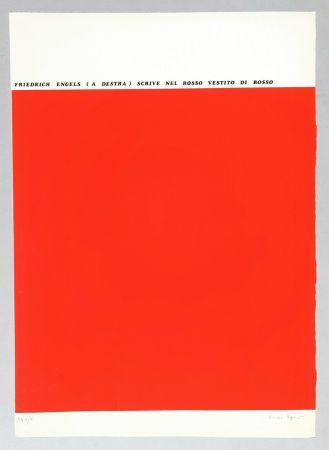 Sérigraphie Isgro - Friedrich Engels (a destra) scrive nel rosso vestito di rosso