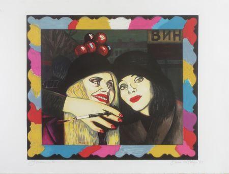Lithographie Okshteyn - Friends