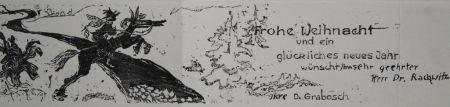 Gravure Sur Bois Grabosch - Frohe Weihnacht