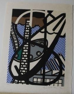 Eau-Forte Et Aquatinte Lichtenstein - From la nouvelle chute de l'amerique