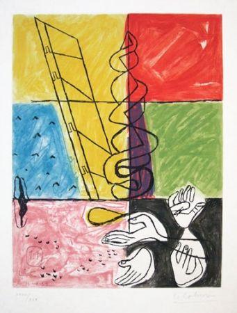 Eau-Forte Et Aquatinte Le Corbusier - From Unite Suite #11b