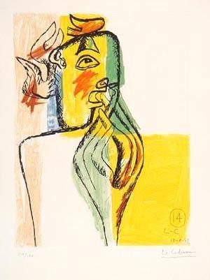 Eau-Forte Et Aquatinte Le Corbusier - From Unite Suite #14
