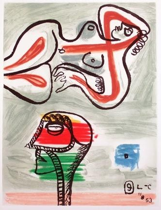 Eau-Forte Et Aquatinte Le Corbusier - From Unite Suite #9