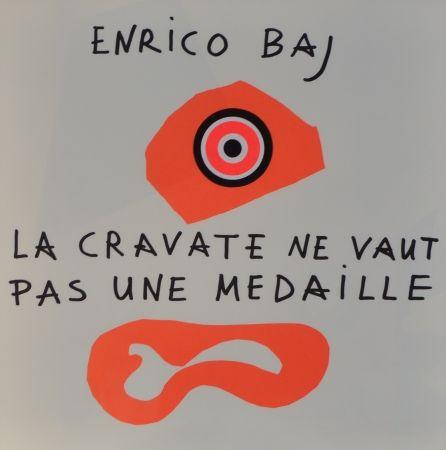 Lithographie Baj - Frontespizio – La cravate ne vaut pas une médaille