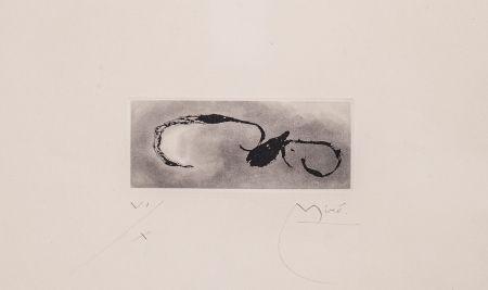 Aquatinte Miró - Frontispice pour Héraclite d'Éphèse, Sans le soleil, malgré les autres astres, il ferait nuit