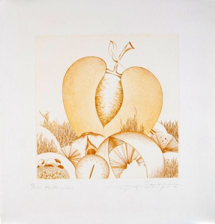 Eau-Forte Et Aquatinte Pierron - Fruits Mûrs