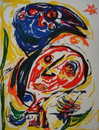Lithographie Pedersen - Fugl Føniks