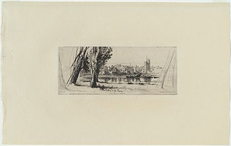 Gravure Haden - Fulham on the Thames, in