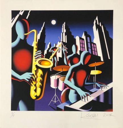 Sérigraphie Kostabi - Full Moon Quartett