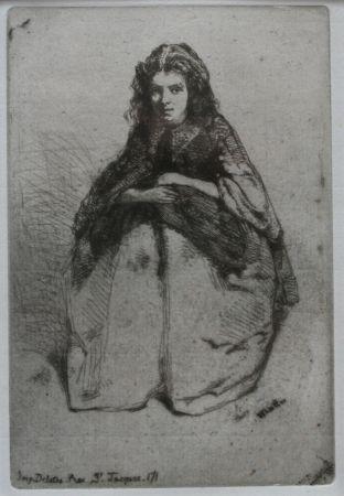 Gravure Whistler - Fumette