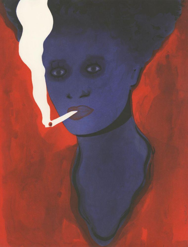 Aquatinte Pétrovitch - Fumeuse