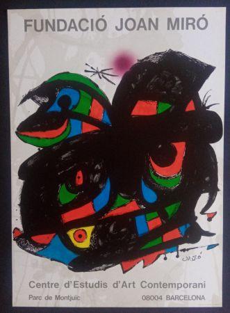 Affiche Miró - Fundació Joan Miró - Opening 1976